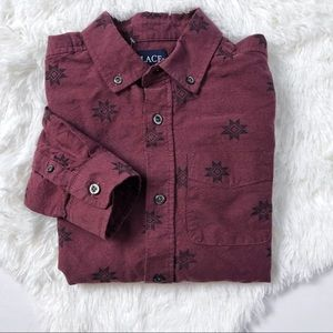 NEW Children's Place Aztec Button Up L 10/12